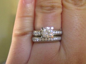 How to keep wedding band and engaement rings in line PriceScope Forum