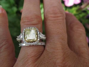 How Do You Wear Your Wedding Band With Halo E Ring