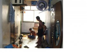 EGL india staff lunch corridor.JPG