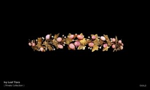 Gold, conch pearl,diamond tiara c. 1900.jpg