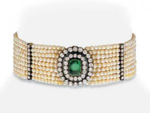 emerald choker, old mine cut diamonds.jpg