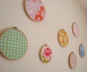 fabric embroidery circle wall art.JPG