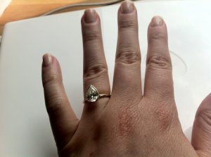 Pear Shaped Diamond With A Gold Band | PriceScope Forum