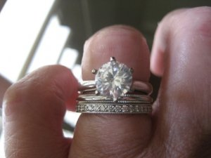 1dc10d8f8 Please ignore the solitaire setting with the loose stone, but in the first  picture are the Tiffany Legacy 2mm band and the Tiffany 2mm milgrain  platinum ...