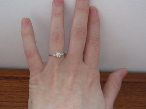 963df07f5dc88 Show me your Size 6.5 - 7 Finger with engagement ring pics ...