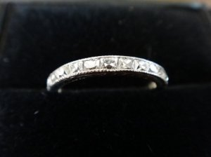 562ca7d4b6c65 Antique Old Mine Diamond & Vintage French Cut Band | PriceScope Forum