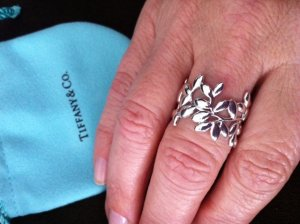 70aeb13c0 Tiffany Olive Leaf band ring came and I love it! | PriceScope Forum