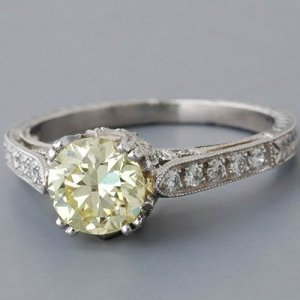 What color grade for a light yellow diamond engagement ring ...