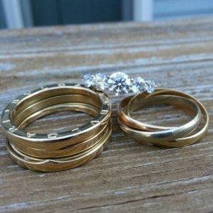 Bvlgari men\'s wedding band and loads of gold | PriceScope Forum