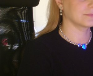 Wearing Return to Tiffany Necklace