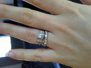 show me stacked wedding rings pricescope forum