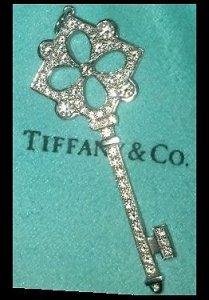 4d1a42b21 Real Tiffany & Co. platinum diamond key or fake? | PriceScope Forum