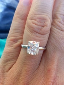 Show Me Your 1 5ct Approx Cushion Cut Engagement Rings