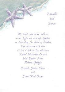 Purple starfish invite  Princess invitations.jpg