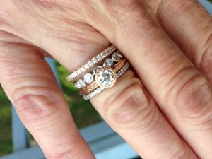 stackable metal in diamond store mixed metals motek engagement bands rings diamonds wedding