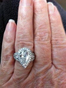My Lauren B Inspired Setting For My Pear Shape Diamond