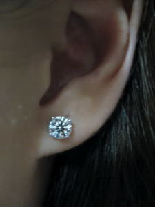 2 carat earrings actual size 1 2 carat stud earrings actual size jewelry 5980