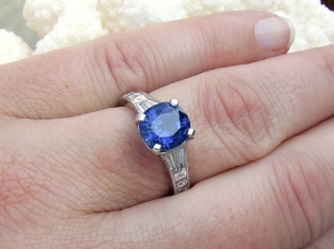 Lunar Rock Engagement Ring