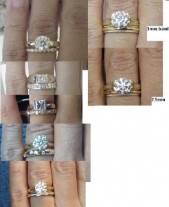 Thick wedding bands with thin erings PriceScope Forum
