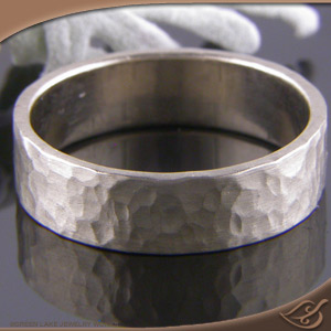 hand rings wedding forged hammered stepped edges product bands with
