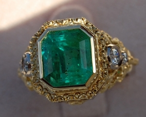 show me your green stones in different color metals pricescope forum