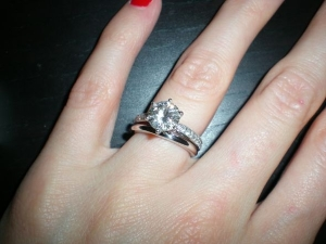727905b2d61 Show me your sparkly engagement ring w  PLAIN WEDDING BAND ...