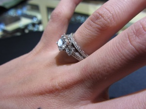 Thicker Band This One Was The Milgrain That Is Similar To E Ring But Doesnt Have Any Of Crescent Side Stones Like
