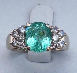 Paraiba Cuprian Tourmaline Diamond Ring Pricescope Forum