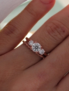 Help What Wedding Band With 3 Stone Trellis Pricescope Forum