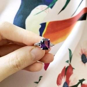 18a2b4e77b476 Amethyst & spinel three-stone ring | PriceScope Forum
