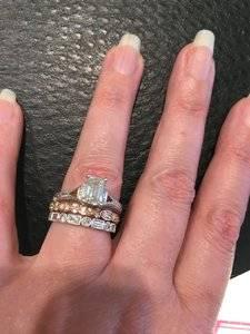 Wedding Rings Mixed Metal Engagement And Wedding Ring