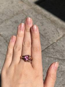 My Bi-colored Sapphire Engagement Ring | PriceScope Forum