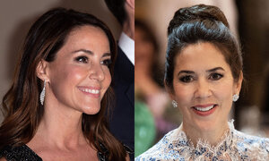 Grand dinner at Paris' town hall. Crown Princess Mary and Princess Marie.jpg