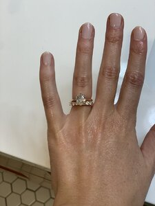Does My Wedding Band Overpower My Engagement Ring Pricescope