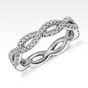 Infinity Twist Eternity Ring in 14k White Gold (.5 ct. tw.)