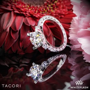 Tacori Full Eternity Engagement Ring set with a 2.01ct F VVS2