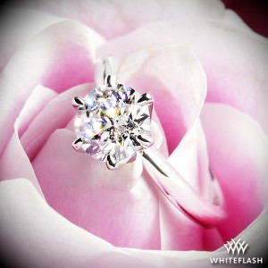 Elegant Solitaire Engagement Ring set with a 1.483ct F VS1 A CUT ABOVE