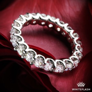 Annette's U Prong Eternity Diamond Wedding Ring with 2.00ctw melee