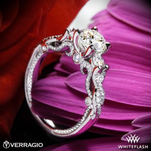 Verragio Braided 3 Stone Diamond Engagement Ring with a 0.9ct Expert Selection