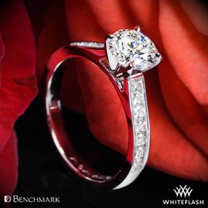 Benchmark Channel Set Diamond Engagement Ring with a 1.08ct Expert Selection