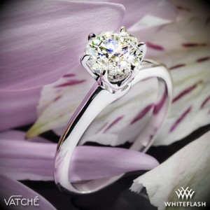 Vatche 6 Prong Solitaire Engagement Ring set with a 1.28ct A CUT ABOVE