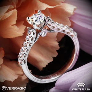 Verragio Classic Diamond Engagement Ring set with a 0.627ct A CUT ABOVE