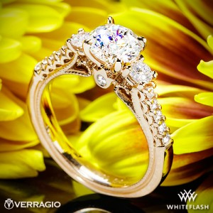 Verragio Classic 3-Stone Diamond Engagement Ring
