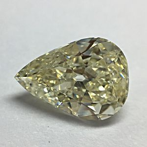 2.50CT OLD CUT PEAR FANCY LIGHT YELLOW VS2 NONE CERT
