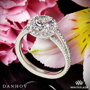Danhov Per Lei Double Shank Diamond Engagement Ring