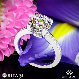 Ritani Tapered Channel Set Diamond Engagement Ring