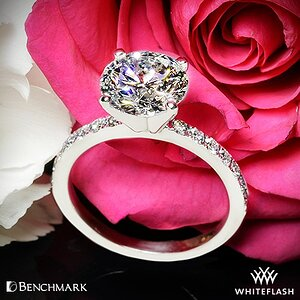 Benchmark Large Pave Diamond Engagement Ring