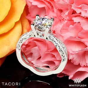 Tacori Classic Crescent Twist Diamond Engagement Ring