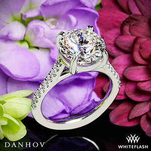 Danhov Classico Single Shank Diamond Engagement Ring