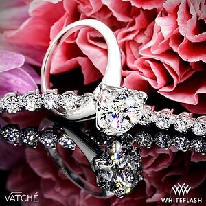 Vatche 6-Prong Solitaire Engagement Ring + Three-Prong Diamond Tennis Bracelet